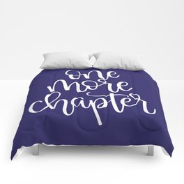 One More Chapter (blue) Comforters