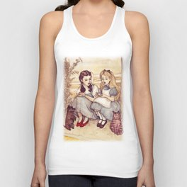 Dorothy and Alice Unisex Tank Top
