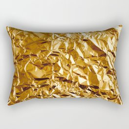 Crumpled Golden Foil Rectangular Pillow