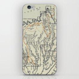 Vintage Mesa Verde National Park Map (1919) iPhone Skin