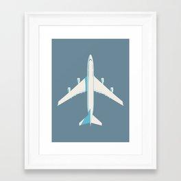 747-400 Jumbo Jet Airliner Aircraft - Slate Framed Art Print