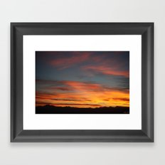 Rocky Mountain Silhouette Framed Art Print