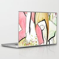 girl power Laptop & iPad Skins featuring Girl Power by Juan I. Scocozza