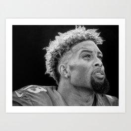 Odell Beckham Jr. Drawing Art Print