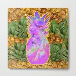 Pineapple Pink Metal Print