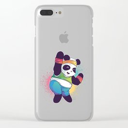 Fitness Panda Clear iPhone Case