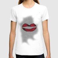 lipstick T-shirts featuring LipStick by Sawaf99