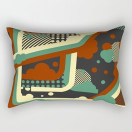 Abstract Vector Illustration Rectangular Pillow