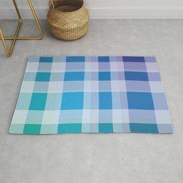 Green, Blue, Purple Plaid Rug