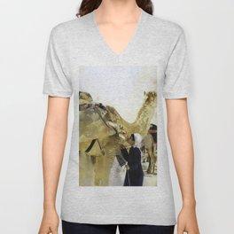 Camel Kisses Unisex V-Neck