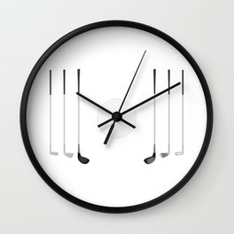 Golf Clubs and Ball Wall Clock