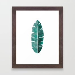 Banana Leaf Watercolor Framed Art Print