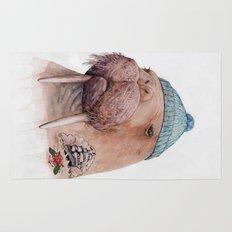 Tattooed Walrus Rug