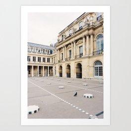 Buren's Columns 2, Le Palais Royal Courtyard, Paris, France Art Print