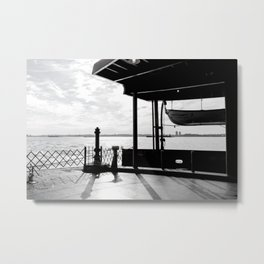 Staten Island Ferry (Silhouette) Metal Print