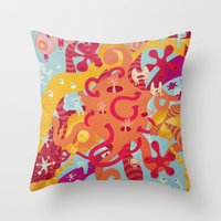 mad Throw Pillows featuring MAD by Piktorama