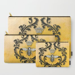 Damask Bee Carry-All Pouch