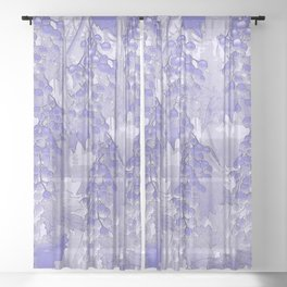 Blue grapes - abstract Sheer Curtain