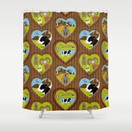 Welcome to the Mountains! Shower Curtain