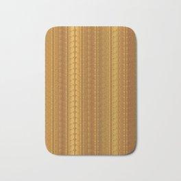 Gold Copper Vertical Stripes Vector Pattern Hand Drawn Background Bath Mat