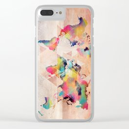 world map 33 sacred Clear iPhone Case