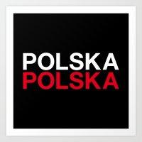 poland Art Prints featuring POLAND by eyesblau