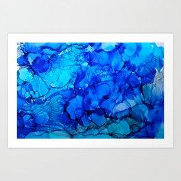 Blue Petunias Art Print