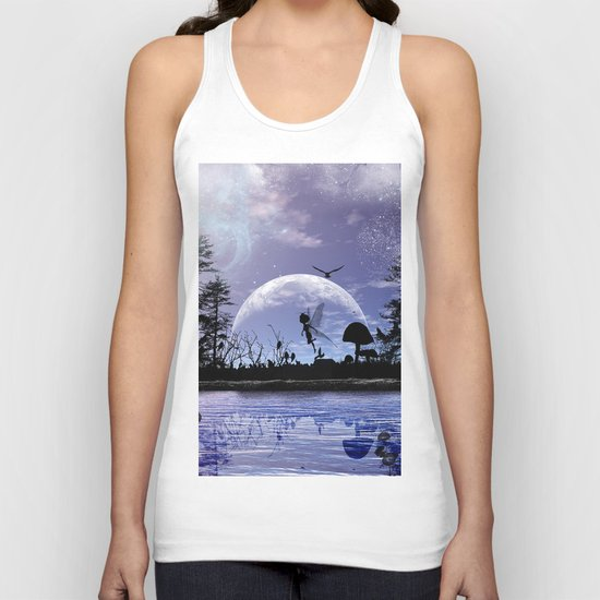 Fairy silhouette Unisex Tank Top