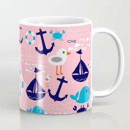 Summer boat pink Coffee Mug