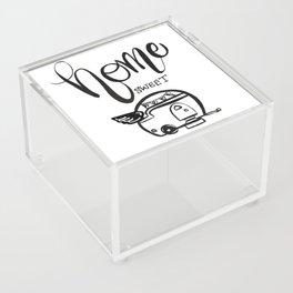 HOME SWEET HOME RV CAMPER Acrylic Box