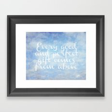 Comes From Above Framed Art Print