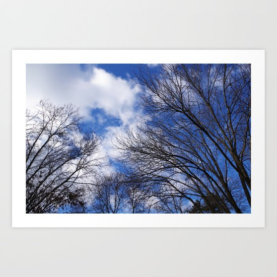 Reaching for the clouds Art Print