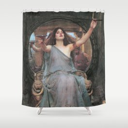 Circe Offering the Cup to Ulysses, John William Waterhouse Shower Curtain