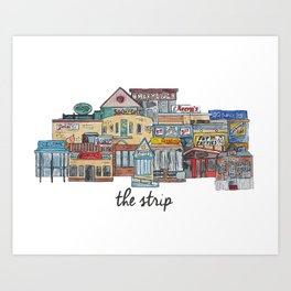 Carbondale Strip Art Print