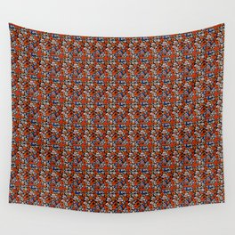 Red Spark Floral Delight Wall Tapestry