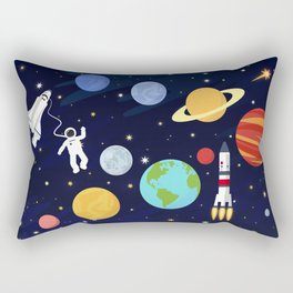 In space Rectangular Pillow