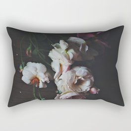 English Roses Still Life - Dark Number Two Rectangular Pillow