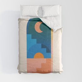 Abstraction_NEW_SUN_MOON_ARCHITECTURE_POP_MINIMALISM_09DD Comforters