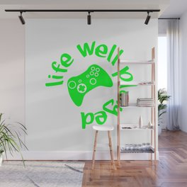 Gamer Life Well Played V2 Wall Mural