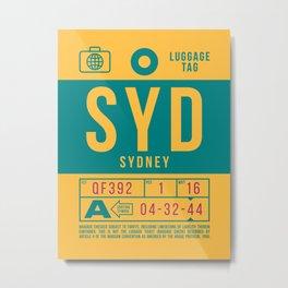 Luggage Tag B - SYD Sydney Australia Metal Print