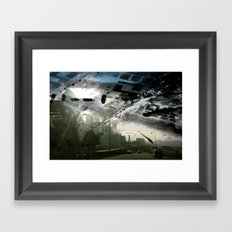 Retrollage 1.. Framed Art Print