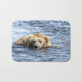 Brown Bear Cooling Off Bath Mat