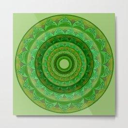 Green dream mandala Metal Print