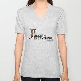Fucketh Everything: 20 Something Shakespeare Unisex V-Neck