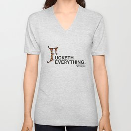 Fucketh Everything: 20 Something Shakespeare Unisex V-Neck