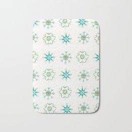 Snowflakes Pattern #1 #drawing #mint #gold #decor #art #society6 Bath Mat