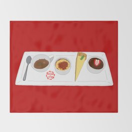 Café Gourmet Set Throw Blanket