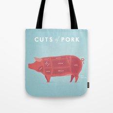 Pork Cuts Poster Tote Bag