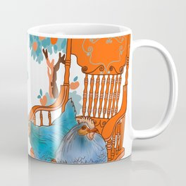 Farm Animals in Chairs #4 Chicken Coffee Mug