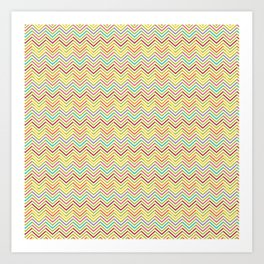 Colorful abstract modern geometrical chevron pattern Art Print